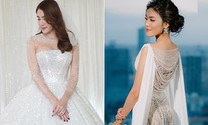 Váy cưới lộng lẫy giá hàng trăm triệu đồng của sao Việt