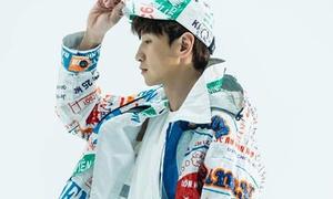 Lee Kwang Soo mặc áo in bao bì cám con cò Việt Nam