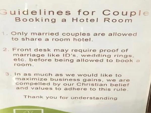 3 quy tắc khi lưu trú tại khu nghỉ dưỡng tại khách sạn Ephrathah Farms.