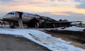 Hình ảnh đầu tiên về máy bay Nga sau hỏa hoạn