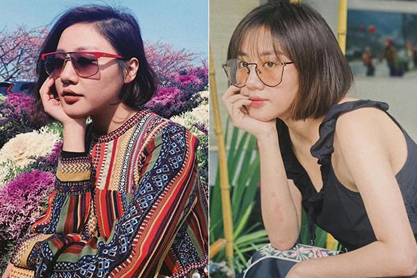 Văn Mai Hương cũng có quyết định chính xác khi cắt tóc mái giúpgương mặt trẻ ra 2,3 tuổi.