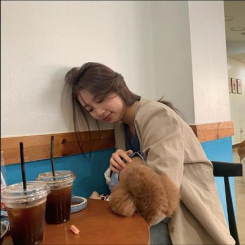 Suzy dành thời gian đi cà phê và nựng chú cún cưng. Các fan cực kỳ thích những hình ảnh gần gũi, nhẹ nhàng của nữ ca sĩ.