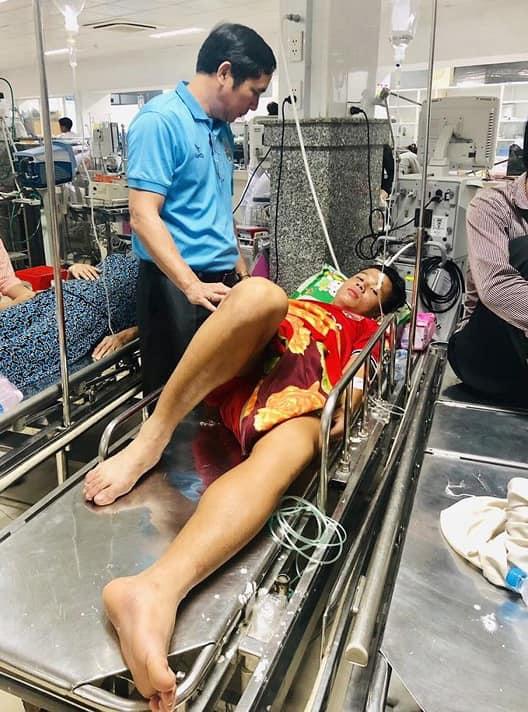Thiện Đức được chẩn đoán móp đầu,thủng thái dương. Hiện cầu thủ của Becamex Bình dương đã ổn định