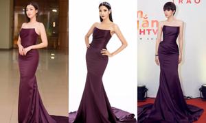 Hoàng Thùy mặc lại váy của hàng loạt mỹ nhân trong ảnh giới thiệu ứng viên Miss Universe