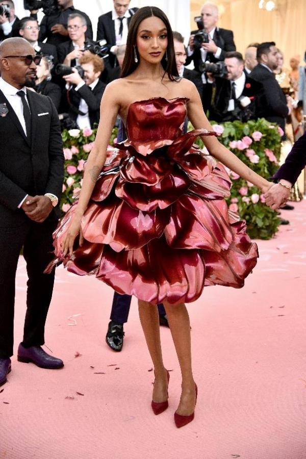 Chiếc váy hoa hồng được in 3D chính xác theo vóc dáng của người mẫu/diễn viên xinh đẹp Jourdan Dunn. Nhà thiết kế Zac Posen đã mất hơn 1.100 giờ đồng hồ làm việc cùng GE Additive và Protolabs để in ra chiếc váy này với 21 cánh hoavới hình dạng, cấu trúc độc nhất, được định hình bằng một bộ khung titan.
