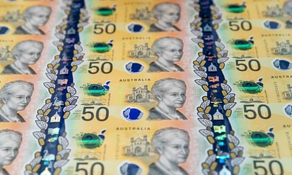 Mẫu tiền mệnh giá 50 AUD của Australia.
