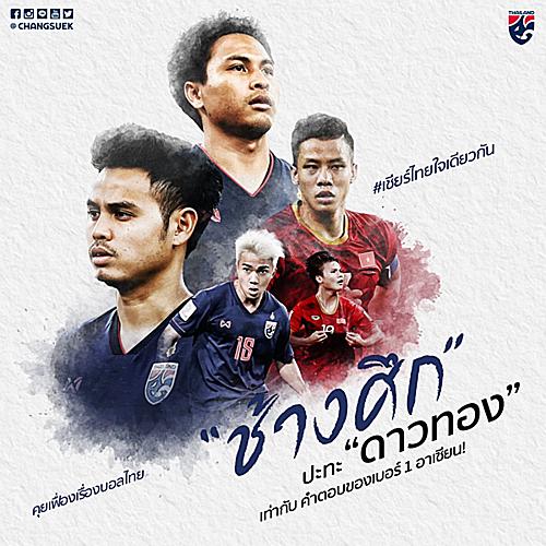 Hình ảnh đăng tải trên fanpage chính thức của đội tuyển quốc gia Thái Lan.