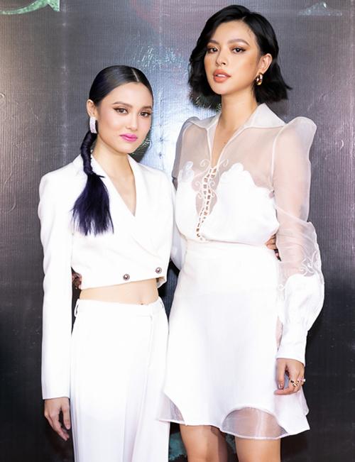 Tú Hảo - Fung La trong ngày ra mắt phim.