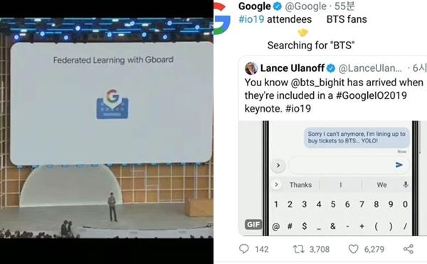 BTS được nhắc đến trong hội thảo và tài khoản chính thức của Google.