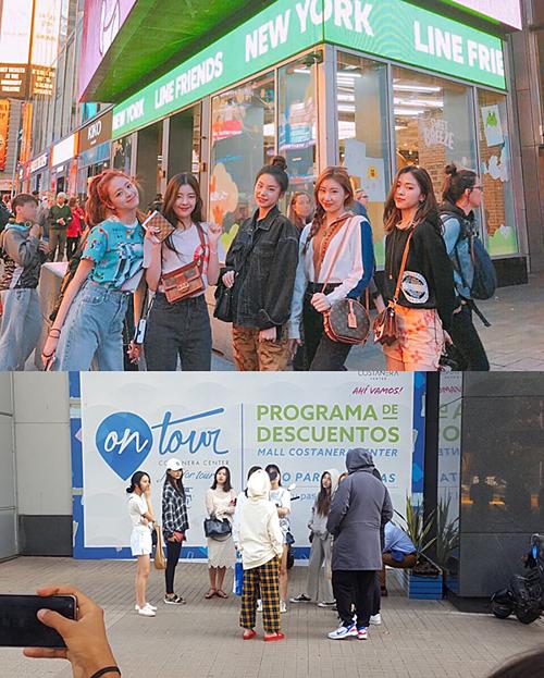 Trong khi ITZY sang Mỹ thì Twice phải tham gia các sự kiện âm nhạc nhỏ, mạc đồ tập hàng ngày.