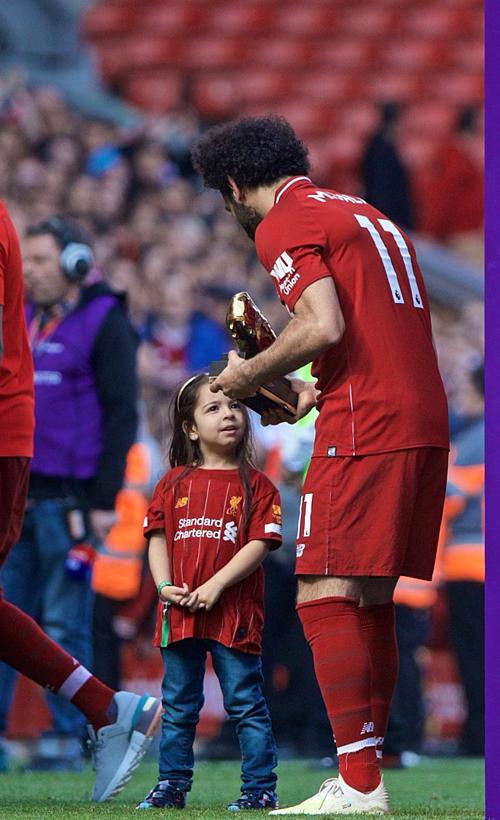 Bức hình Mohamed Salah và con gái đang gây bão mạng xã hội. Ảnh: Mohamed Salah