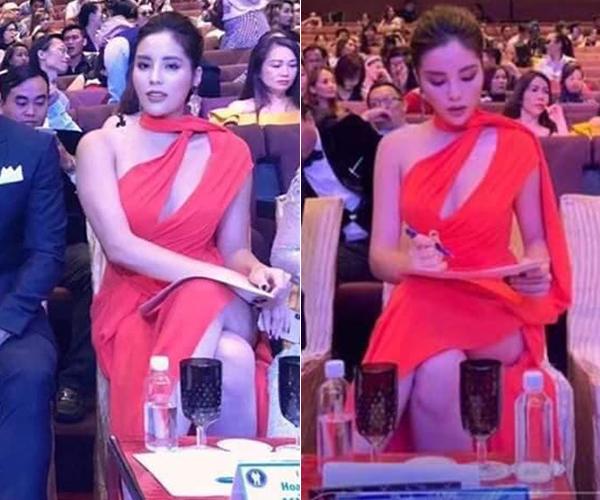 Trước nhiều nhận xét chê bai, Hoa hậu Việt Nam 2014 đăng tải bức hình chụp bằng điện thoại, cùng một góc với thân hình nhỏ nhắn hơn hẳn như một động thái đáp trả. Nhiều người hâm mộ cho rằng bức ảnh đang gây xôn xao là do góc chụp xấu, cố tình dìm hàng, thậm chí có thể bị photoshop khiến Kỳ Duyên trông béo hơn.