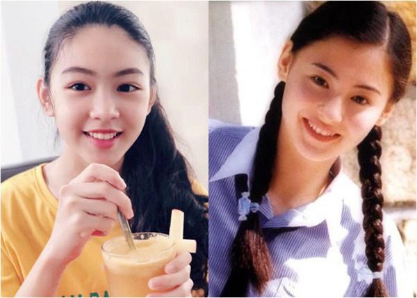 Đôi mắt rạng rỡ và nụ cười tươi tắn của Thảo Linh gây liên tưởng đến mỹ nhân đình đám thập niên 80 của đài TVB. Nhiềungười đặt cho cô bé nickname tiểu Trương Bá Chi.