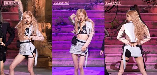 Rosé xếp ngay sau Lisa với fancam có 3,7 triệu lượt xem. Mỹ nhân nhà YG có vòng eo nhỏ xíu, đôi chân dài.