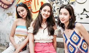 Thời trang đi biển sang chảnh của hội bạn thân đình đám nhất Thái Lan