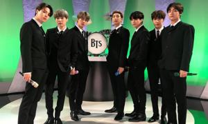 BTS hóa thân thành huyền thoại The Beatles trên show ăn khách nước Mỹ