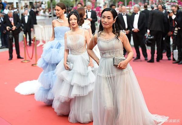 LHP Cannes 2019 dập dìu các người đẹp Trung Quốc không ai biết tên.
