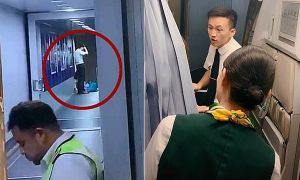 Bà mẹ Trung Quốc ngăn tiếp viên đóng cửa máy bay để đợi con gái mua sắm