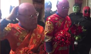 Chú rể hóa thành Thanos đi đón dâu vì cuồng 'Avengers'