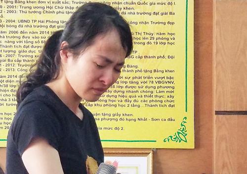 Cô giáo Nguyễn Thị Thu Trang. Ảnh: Giang Chinh.