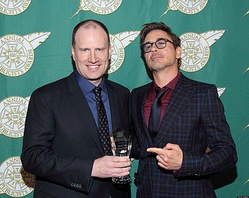 Kevin Feige và diễn viên Robert Downey Jr.