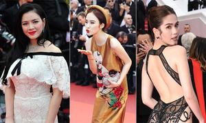 Thời trang dự Cannes của sao Việt qua các năm