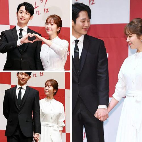 Trong lần đầu hợp tác, cả Jung Hae In và Han Ji Min đều dành cho nhau ánh mắt tình tứ, nắm chặt tay không rời. Khán giả thích thú trước phản ứng hóa học của cặp đôi.