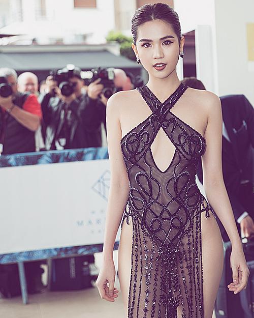 Ngọc Trinh tại Cannes 2019.
