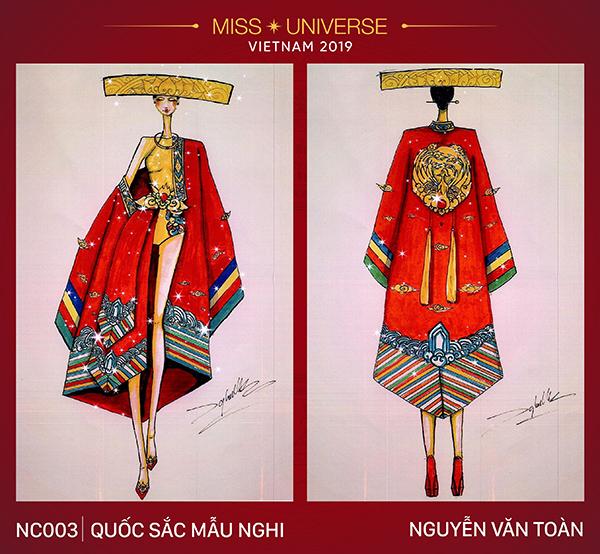 Chọn trang phục áo dài Nhật Bình được sử dụng cho bậc phi tần xưa làm cảm hứng chủ đạo,