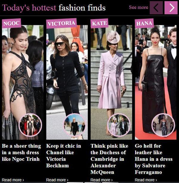 Ngọc Trinh là từ khóa tìm kiếm hot nhất với bộ váy hở hang.