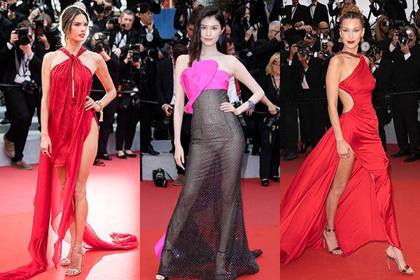 Thảm đỏ Cannes 2019 thiếu vắng diễn viên, rộn ràng người mẫu khoe dáng.