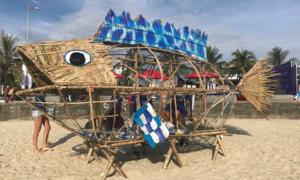 Cá bống... 'ăn' rác thải nhựa ở bãi biển Đà Nẵng