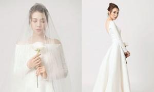 Đàm Thu Trang khoe ảnh mặc váy cưới trước hôn lễ với Cường Đô La