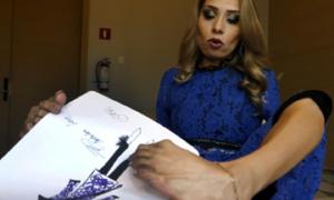 Người phụ nữ Mexico dùng chân vẽ thiết kế thời trang