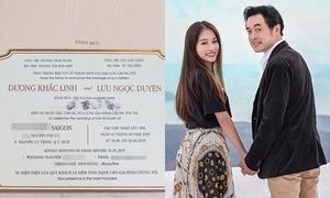 Thiệp cưới đơn giản của Dương Khắc Linh - Sara Lưu