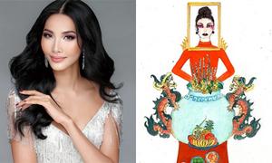 Thiết kế 'Bàn thờ' làm quốc phục Việt Nam tại Miss Universe gây tranh cãi