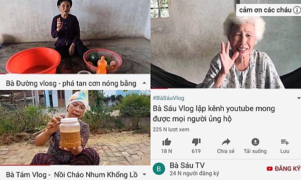 Một loạt các vlogs ông bà khác ra đời.