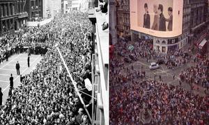 Bức ảnh so sánh người hâm mộ BTS và The Beatles