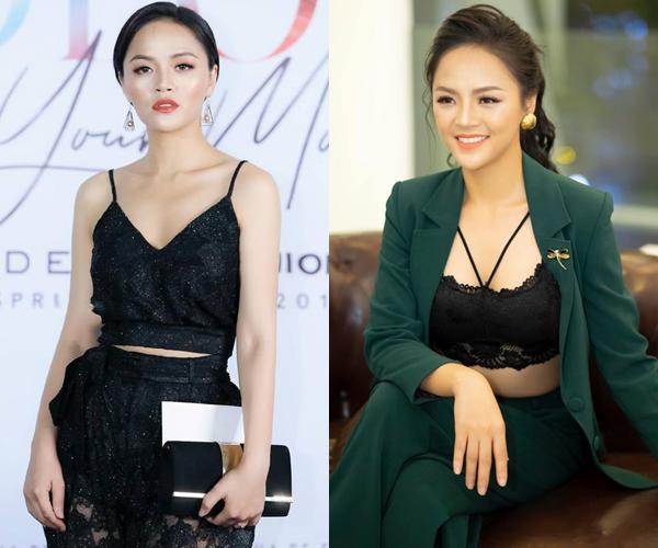 Các kiểu đồ ren, áo hai dây hay thời trang khoe nội y được Thu Quỳnh yêu thích.