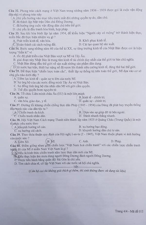 Đề thi Lịch sử vào 10 tại Hà Nội dễ dàng, nhiều thí sinh làm thừa thời gian - 3