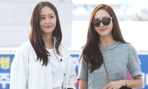 Chị em Jessica - Krystal khoe style sành điệu ở sân bay