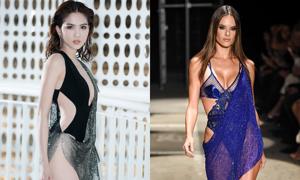 'Váy như đồ bơi' của Ngọc Trinh bị nghi đạo nhái