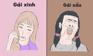 Sự khác biệt giữa gái xinh và gái xấu
