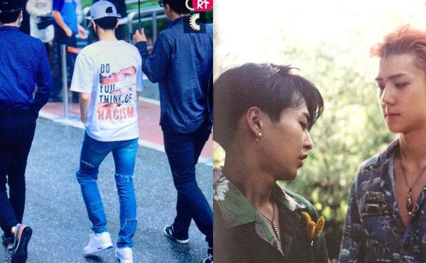 Baek Hyun từng đi đôi giày đặc biệt được hãng Nike thiết kế dành riêng cho cộng đồng LGBT.Trong MV Ko Ko Bop, phân cảnh thân mật giữaSe Hun và Xiu Min cũng được cho là phản ánh tình yêu đồng giới hay sâu xa hơn là ngầm ủng hộ cộng đồng LGBT của EXO.
