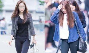 Dàn Idol Hàn so chân thon khi diện quần legging