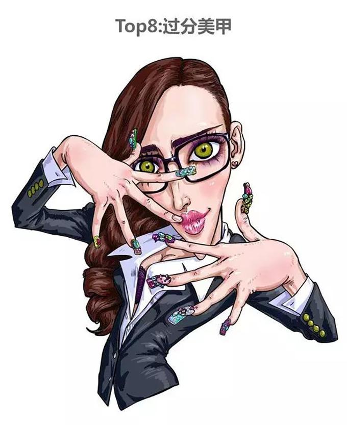 """<p> <strong>Kiểu 8: Thích làm móng tay cầu kỳ</strong></p> <p> Con gái luôn thích làm nail để tô điểm cho bàn tay. Tuy nhiên việc làm nail 'quá đà' như việc bạn gắn móng quá dài, đính quá nhiều hạt, nhiều đá khiến người xung quanh phải... rùng mình.</p> <p> Thêm một lý do khiến các chàng cảm thấy chán ghét các cô nàng làm nail chính là việc họ trở nên """"vô dụng"""", bởi với bộ móng trau chuốt như vậy họ có thể làm gì?</p>"""