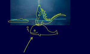 Fan chế ảnh 1001 cách Godzilla đứng được giữa đại dương