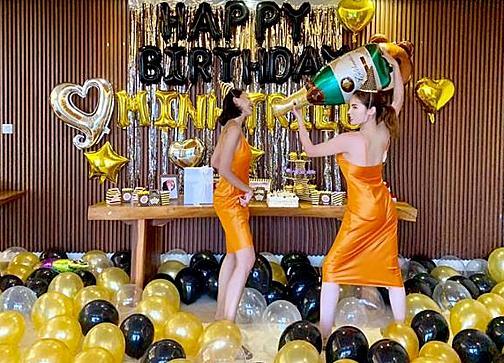 Kỳ Duyên tổ chức sinh nhật cho Minh Triệu.