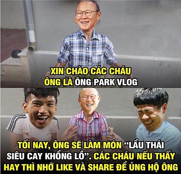 Cộng đồng mạng chế ảnh HLV Parl làm lẩu Thái.