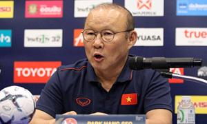 HLV Park Hang-seo: 'Curacao mạnh nhưng chúng tôi muốn giành chức vô địch'